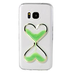 Galaxy S7 Case, TIPFLY 3D Love Heart Hourglasses Quicksand L