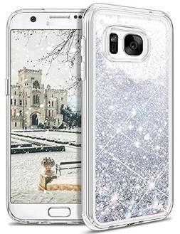 Galaxy S7 Case,S7 Glitter Case,WESADN Bling Sparkle Flowing