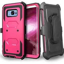 Galaxy S8+ Plus Case, Jwest Heavy Duty Protection Kickstand