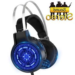 SNTIA Gaming Headset with Noise Isolation Microphone and LED