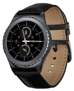Samsung Gear S2 Classic Smartwatch w/Rotating Bezel and Leat