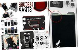 Gecko Adhesive Phone Wallet & RFID Blocking Sleeve, a Stick-