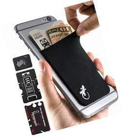 Gecko Adhesive Phone Wallet & RFID Blocking Sleeve, a Stick-