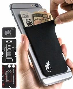 Gecko Adhesive Phone Wallet RFID Blocking Sleeve, a Stick-On