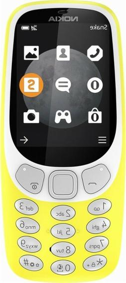 Genuine Nokia - 3310 3G Cell Phone  - US Carriers - Yellow -