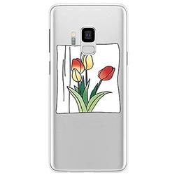 1 piece Glasses Girl Case For Samsung Galaxy S5 S6 S7 Edge S