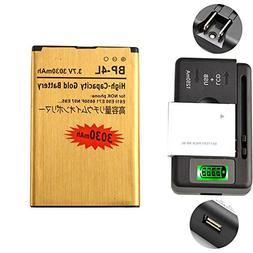 Gold Extended Nokia E71 E72 E90 N97 High Capacity Battery BP