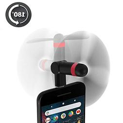 Google Pixel 3 Mini Fan, Wuedozue 180 Rotating Portable USB-