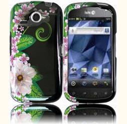 Green Flower Design Hard Case Cover for Pantech Burst P9070
