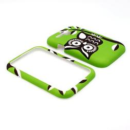 CoverON GREEN Hard Snap-On Cover Case with BLACK WHITE OWL D