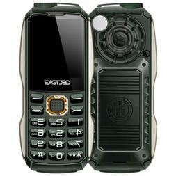 Green Mini Rugged Phone Dual flashlight T8600 Military Power
