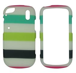 Green White Stripes Pantech Hotshot 8992  Case Cover Hard Ph