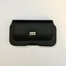 REIKO Horizontal Leather Case Wallet Pouch Belt Clip - Cell