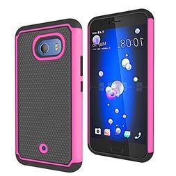 ZAOX HTC U11 Case,   Drop Protection Cell Phone Hybrid Dual