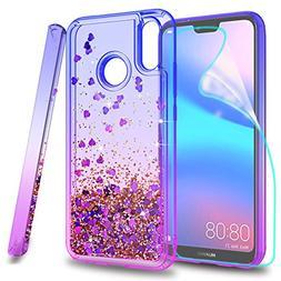 Huawei Nova 3E Phone Case,Huawei P20 Lite Glitter Case with
