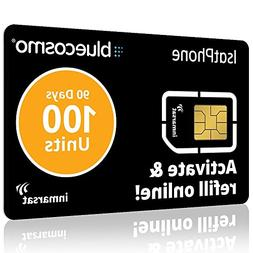 BlueCosmo IsatPhone 100 Unit Global Satellite Phone Prepaid