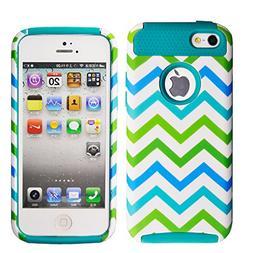 iPhone 5C Case MOUKOU Unique Colorful Wave Hybrid Impact Cas