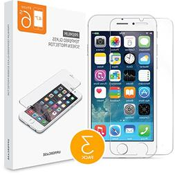iPhone 6 iPhone 6S Screen Protector 3 Individual Pack, Uppe