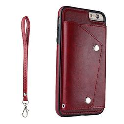 Scheam iPhone 6 iPhone 6s 4.7 inch Wallet Leather Case with