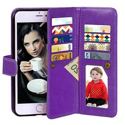 iPhone 6 Case, Vofolen 2 in 1 iPhone 6S Case Wallet Folio Fl