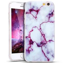 IPhone 6 Case, iPhone 6S Case-PLCase Purple Marble Pattern D