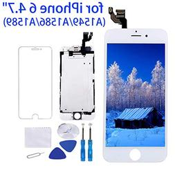 """Screen Replacement for iPhone 6 White 4.7"""" LCD Display Touch"""