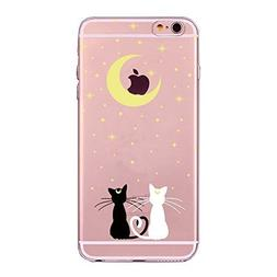iPhone 7,iPhone 8 Case Back Cover Lovely Cat Owl Pet Rubber