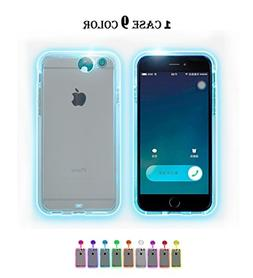 Winhoo iPhone 7/8 plus Case,9 color in 1 LED Flash Case ,Can