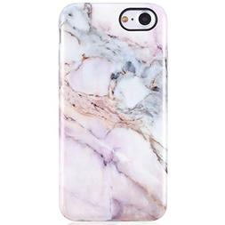 iPhone 7 Case,iPhone 8 Case,Pink Marble for Girls Women,VIVI