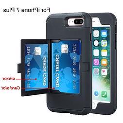 iPhone 7 Plus case,TOPBIN  &  Hard PC+ Soft Silicone  Anti-S