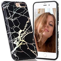 iPhone 7 Plus Case, BAISRKE Laser Style Marble Design Colorf