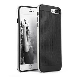 LESHP iPhone 7 Plus Case Flexible Soft Slim Two In One TPU S