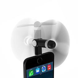iPhone 8 Mini Fan, Wuedozue 180 Rotating Portable 8Pin Light