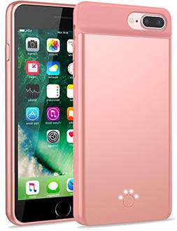Emishine iPhone 8 plus 7 plus/6 plus/6S plus Battery Case, U