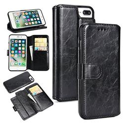 iPhone 8 Plus Case, iPhone 7 Plus Wallet Case   PU Leather F