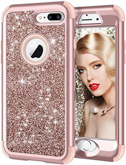 Vofolen iPhone 8 Plus Case, iPhone 7 Plus Case Glitter Bling