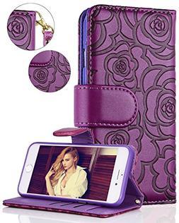 iPhone 8 Plus Case,iPhone 7 Plus Wallet Case,FLYEE Premium F