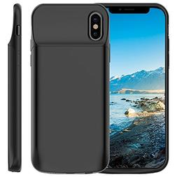 iPhone XS/X Battery Case, Vproof 6000mAh Portable Charger Re