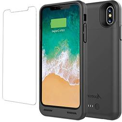 iPhone X/XS Battery Case Qi Wireless Charging Compatible, Al