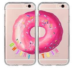 iPhone Couple Case,BFF Best Friends Sweet Donut Food Foodie