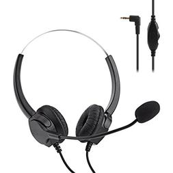 2.5mm Jack Call Center Headset, BizoeRade Noise Cancelling B