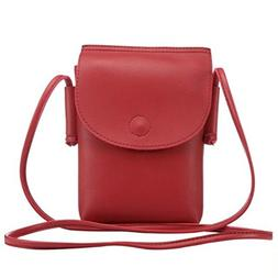Just ModeCrossbody PU Leather Cellphone Bag Credit Card Hold