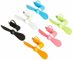 Keklle 2-in-1 Mini Cell Phone Fan for iPhone/iPad and Androi