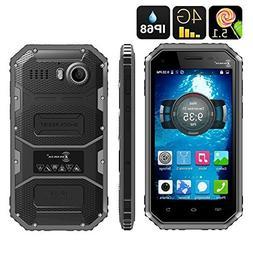 Ken Xin Da W6 Rugged Smartphone - IP68, Dual SIM, 4G, Quad C
