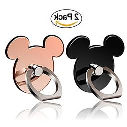 Cartoon Phone Ring Stand Holder  360 Rotation Cell Phone Gri