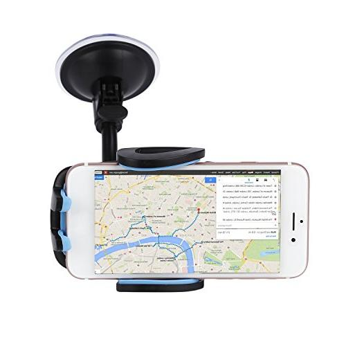 LESHP 3-in-1 Universal Phone Mount Holder Cell Phone Car Air Vent Holder Dashboard Mount Windshield Mount for 6 SE Plus and More