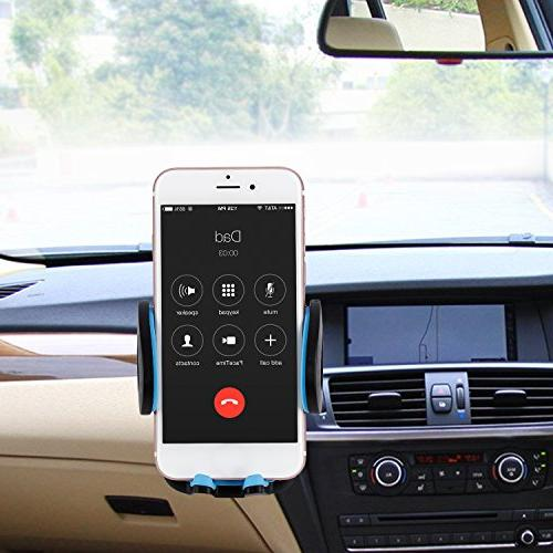 LESHP 3-in-1 Universal Phone Mount Phone Holder Cell Vent Windshield 6 6S SE and