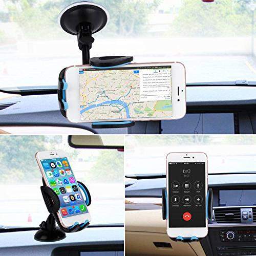 LESHP 3-in-1 Universal Phone Mount Holder Cell Vent Holder 6 and