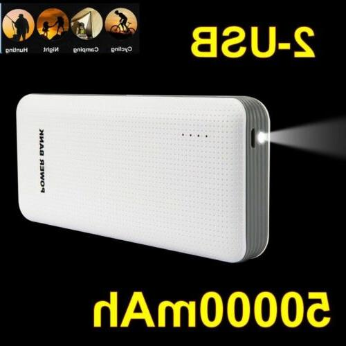 100000mAh USB LCD Power Bank For Phone