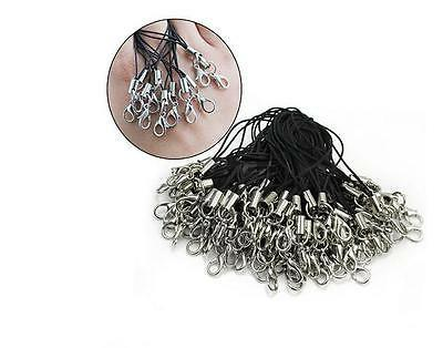 100pcs black cell phone lanyard cords strap